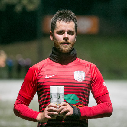 Natural sports cosmetics for the Lithuanian minifootball